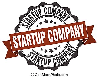 startup company stamp. sign. seal