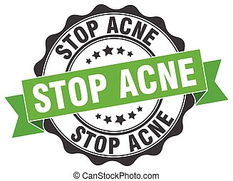 stop acne stamp. sign. seal