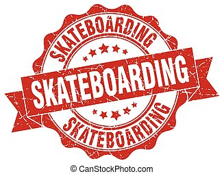 skateboarding stamp. sign. seal