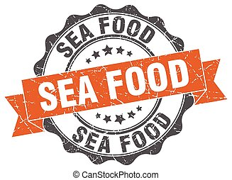 sea food stamp. sign. seal
