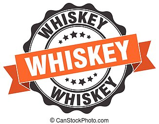 whiskey stamp. sign. seal