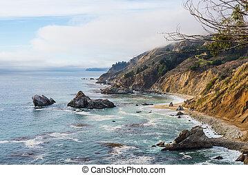 Rocky coast in Big Sur, California