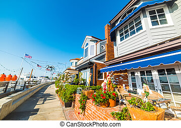 Beautiful houses in Newport Beach, California