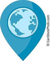 blue world location icon