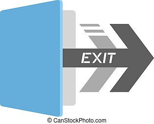 exit icon - creative design of exit icon