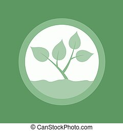 green nature symbol - creative design of green nature...