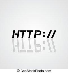 http symbol - creative design of http symbol