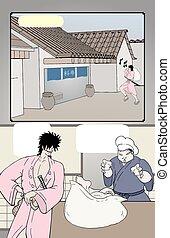 imaginative comic page draw - design of imaginative comic...