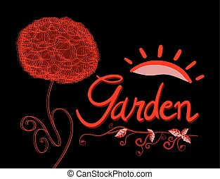 imaginative garden symbol - design of imaginative garden...
