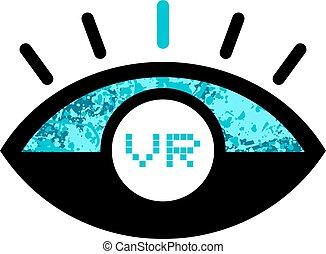 imaginative vr icon - design of imaginative vr icon