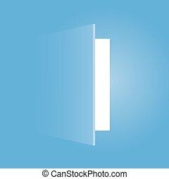 creative design of open door - creative design of blue open...