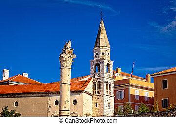 Historic roman landmarks of Zadar, Dalmatia, Croatia