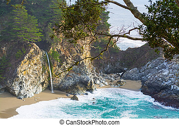 McWay falls in Big Sur state park, California