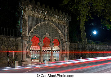 Moorish fountain - Night photo of Moorish fountain in...