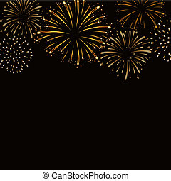 Firework bursting sparkle background gold - Firework gold...