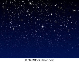 night sky with stars - vector night sky with snowflakes and...