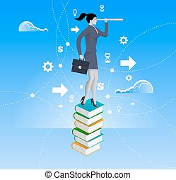 Power of knowledge business concept