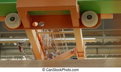 Automatic Machine Production of chipboard - furniture...