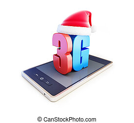 3g smartphone ang text 3G Santa Hat, 3G cellular high speed...