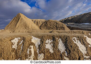 Mud Volcanoes, Romania - landscape in Mud Volcanoes. Buzau...