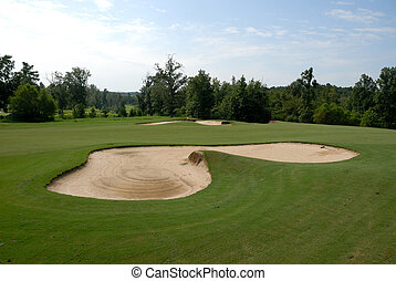 Sand trap at golf course Winder Georgia