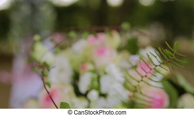 Beautiful decoration with flowers