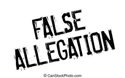 False Allegation rubber stamp. Grunge design with dust...