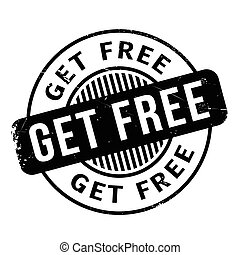 Get Free rubber stamp. Grunge design with dust scratches....
