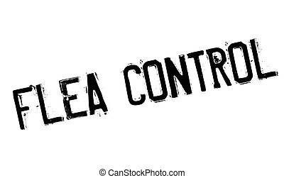 Flea Control rubber stamp