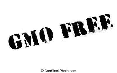 Gmo Free rubber stamp. Grunge design with dust scratches....