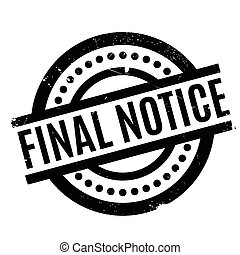 Final Notice rubber stamp