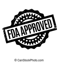 Fda Approved rubber stamp. Grunge design with dust...