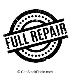 Full Repair rubber stamp. Grunge design with dust scratches....