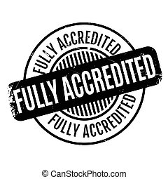 Fully Accredited rubber stamp. Grunge design with dust...