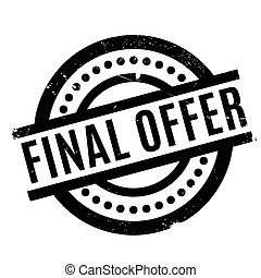 Final Offer rubber stamp. Grunge design with dust scratches....
