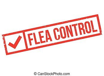 Flea Control rubber stamp. Grunge design with dust...