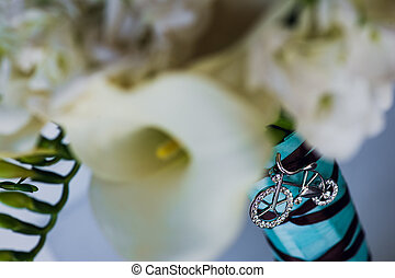 Beautiful flowers boquet decoration jewelry made with silver...