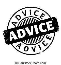 Advice rubber stamp. Grunge design with dust scratches....