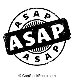 Asap rubber stamp. Grunge design with dust scratches....