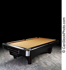 billiard table - A luxury pool table on the spot light...