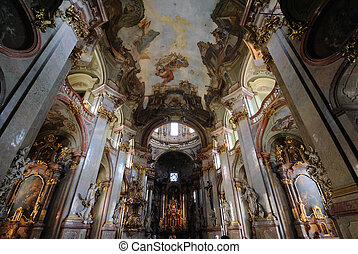 St Nicholas Church in Prague - St Nicholas Church interior...
