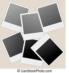 Realistic vector photo frames