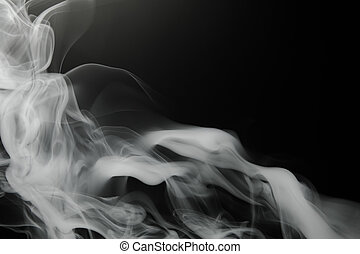 smoke background on black
