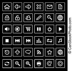 Collection of vector internet icons and buttons. Good for...