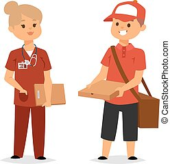 Courier characters workers people - Cool courier characters...