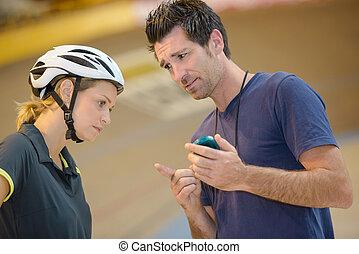 cyclist under pressure