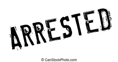 Arrested rubber stamp. Grunge design with dust scratches....