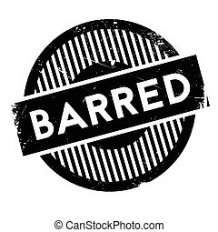 Barred rubber stamp. Grunge design with dust scratches....