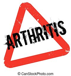 Arthritis rubber stamp. Grunge design with dust scratches....
