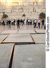 People at the Wailing Wall, religion and culture, history...